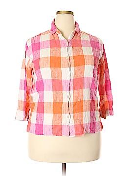 Rebecca Malone Long Sleeve Button-Down Shirt Size 2X (Plus)