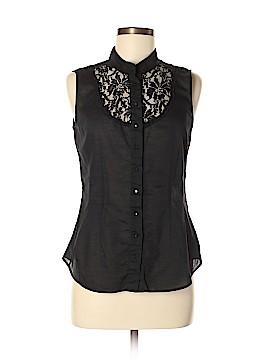 Express Sleeveless Button-Down Shirt Size M