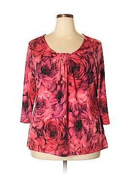 Susan Graver 3/4 Sleeve Top Size 1X (Plus)