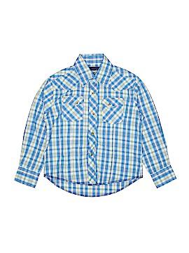 Wrangler Jeans Co Long Sleeve Button-Down Shirt Size S (Kids)