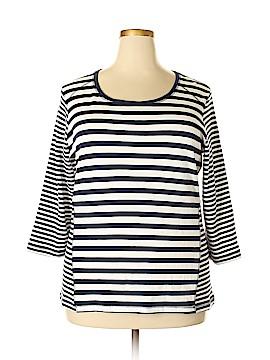 Karen Scott Sport 3/4 Sleeve Top Size 1X (Plus)