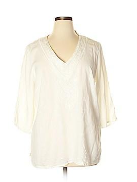 Saint Tropez West 3/4 Sleeve Blouse Size 1X (Plus)