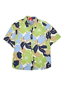 A Line Short Sleeve Button-Down Shirt Size 16