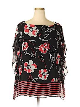 Calvin Klein Short Sleeve Blouse Size 2X (Plus)