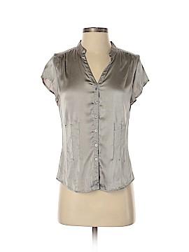 Express Design Studio Short Sleeve Silk Top Size M