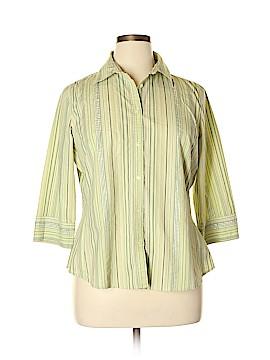 Merona 3/4 Sleeve Button-Down Shirt Size 16