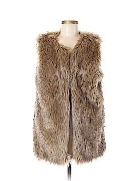 Merona Faux Fur Vest Size M