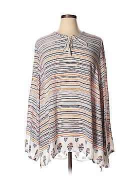 Caslon Long Sleeve Blouse Size 2X (Plus)