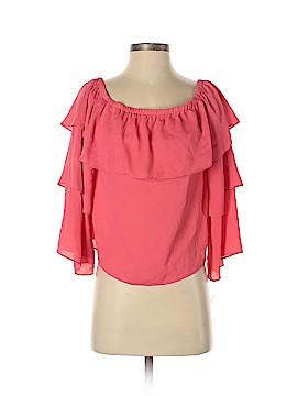 INC International Concepts Long Sleeve Blouse Size M (Petite)