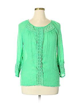Jade 3/4 Sleeve Blouse Size XL