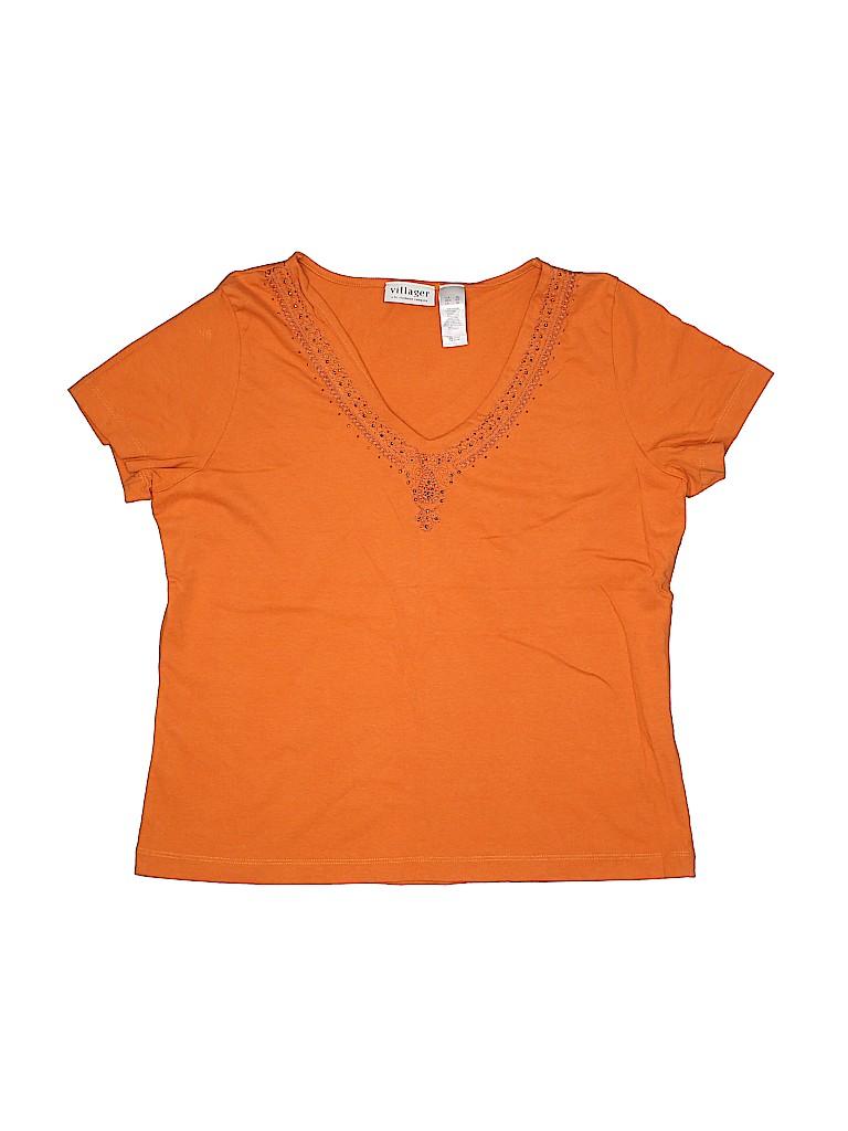 Villager Women Short Sleeve Top Size XL