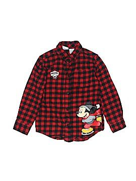 Disney Long Sleeve Button-Down Shirt Size 4T