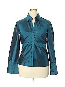 Kasper Long Sleeve Silk Top Size L