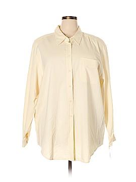 Elisabeth by Liz Claiborne Long Sleeve Button-Down Shirt Size 20 (Plus)