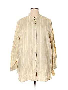 Rafaella Studio Long Sleeve Button-Down Shirt Size 2X (Plus)