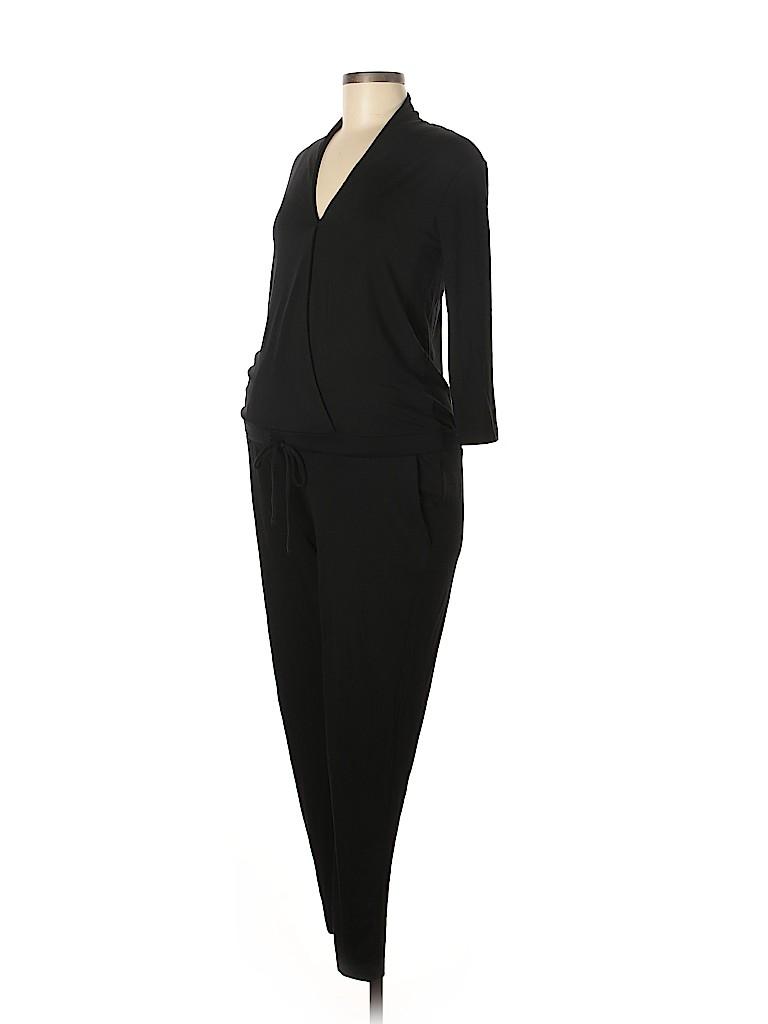 87b2eb56466f1 Gap - Maternity 100% Cotton Solid Black Jumpsuit Size XS (Maternity ...