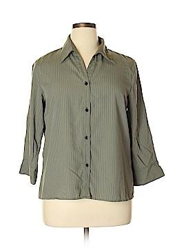 Notations 3/4 Sleeve Button-Down Shirt Size XL