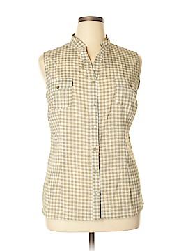Notations Sleeveless Button-Down Shirt Size XL
