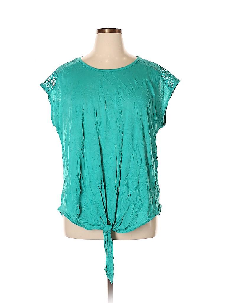 Mix & CO Women Short Sleeve Top Size 3X (Plus)