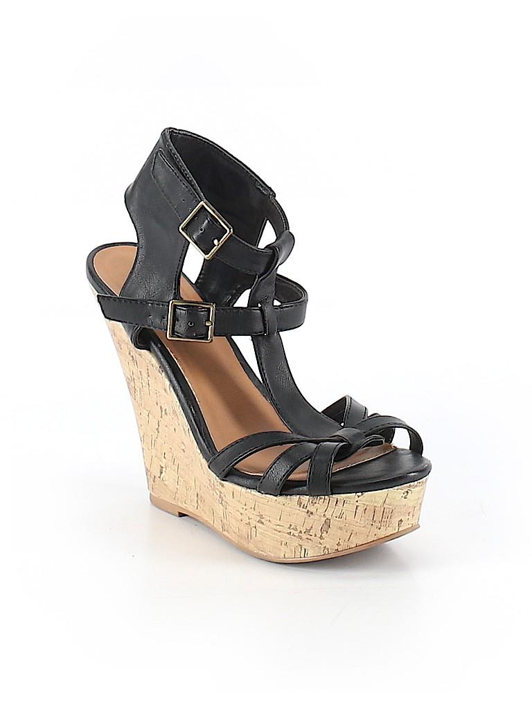 b80ef087399 Charlotte Russe Solid Black Wedges Size 8 - 77% off