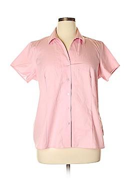 Jones New York Collection Short Sleeve Button-Down Shirt Size 14