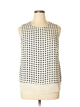 Rose & Olive Sleeveless Blouse Size XL