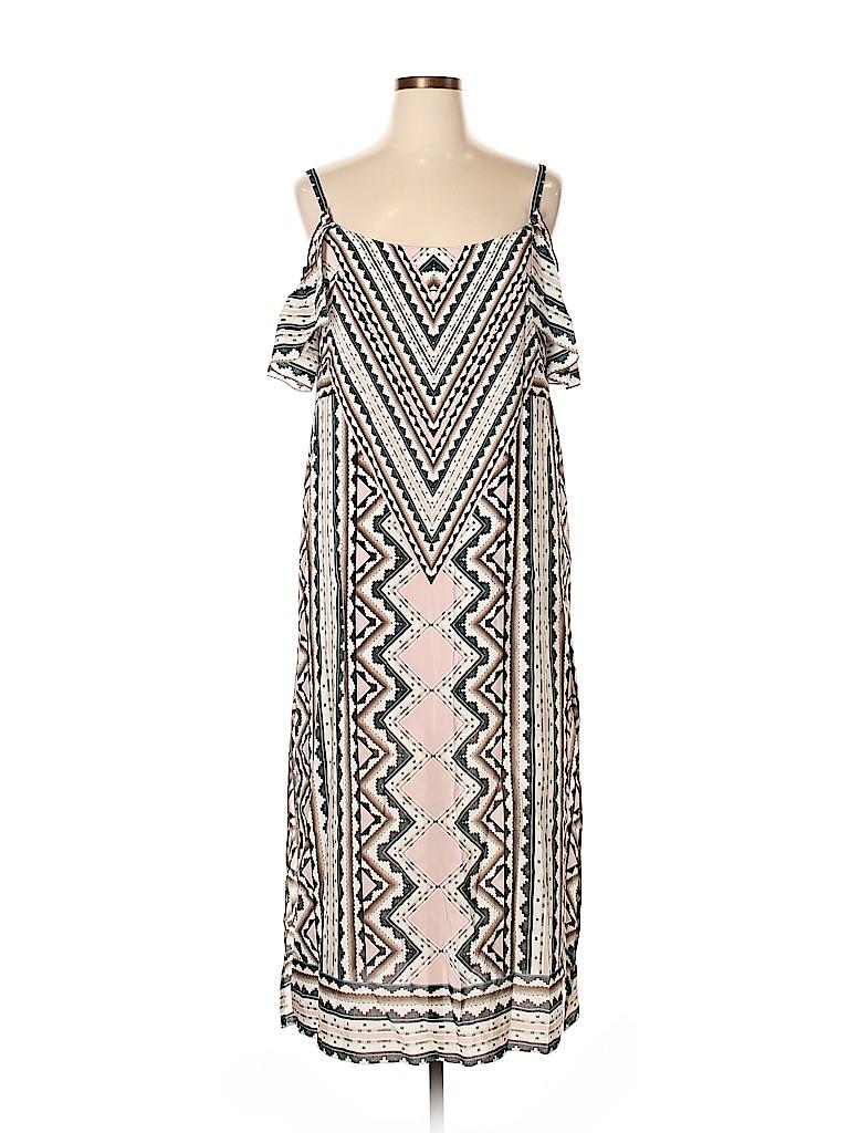 f03839476feb Nanette Lepore 100% Silk Print Light Pink Casual Dress Size 14 - 79 ...