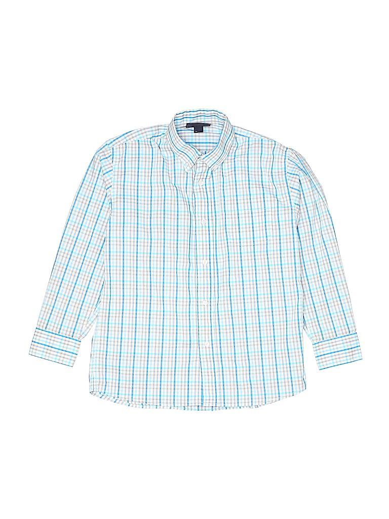 Oscar De La Renta Boys Long Sleeve Button-Down Shirt Size 8