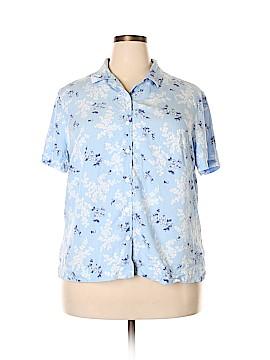 Crazy Horse by Liz Claiborne Short Sleeve Button-Down Shirt Size 2X (Plus)