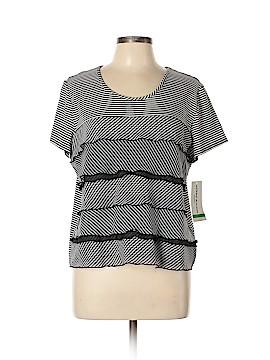 Alfred Dunner Short Sleeve T-Shirt Size L (Petite)