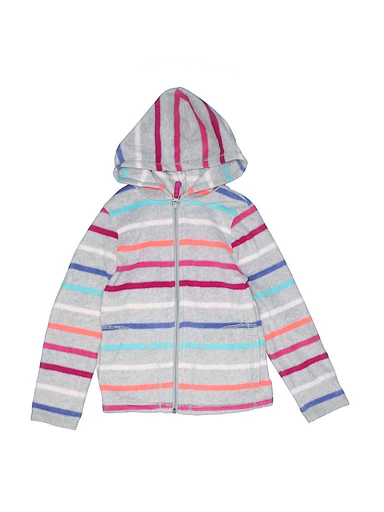 c2d6303d0 Crazy 8 100% Polyester Stripes Gray Fleece Jacket Size 7 - 66% off ...