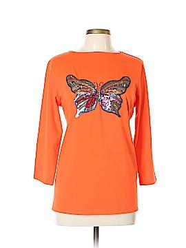 DG^2 by Diane Gilman 3/4 Sleeve T-Shirt Size L