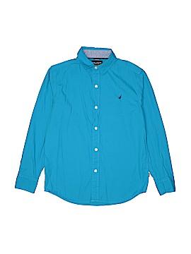 Nautica Long Sleeve Button-Down Shirt Size 10 - 12