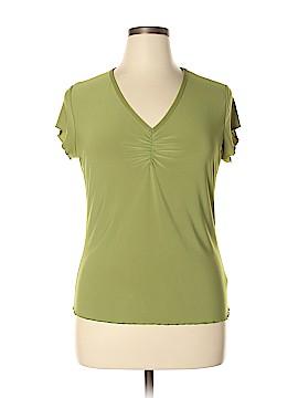 Susan Lawrence Short Sleeve Blouse Size XL