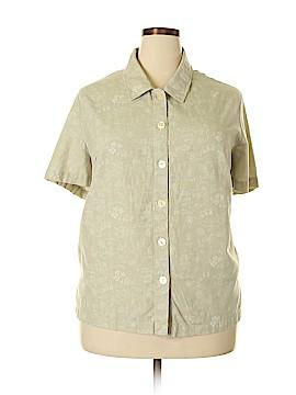Kathie Lee Short Sleeve Button-Down Shirt Size 22 - 24 (Plus)