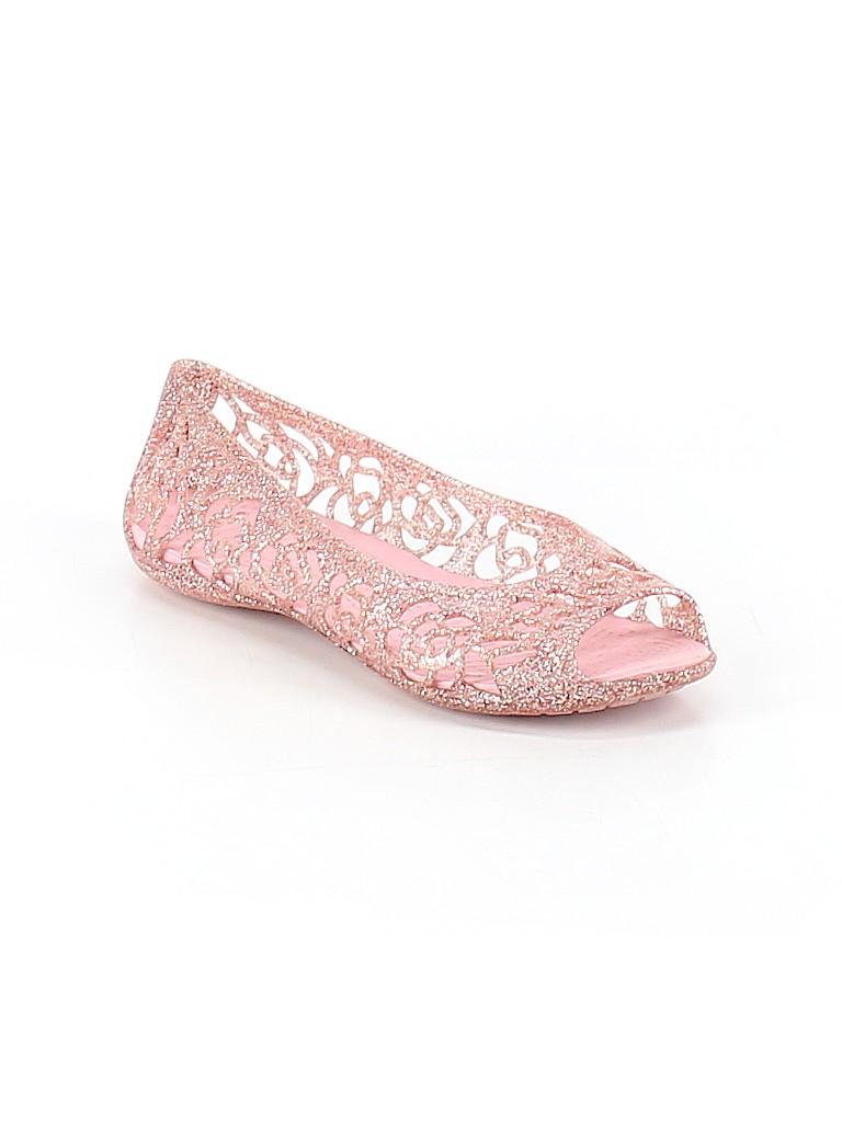 53481dc6a86 Crocs Solid Light Pink Flats Size 3 - 48% off