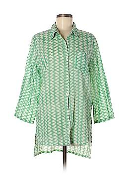 Roberta Roller Rabbit 3/4 Sleeve Button-Down Shirt Size M