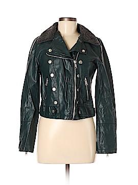 Jolt Faux Leather Jacket Size M
