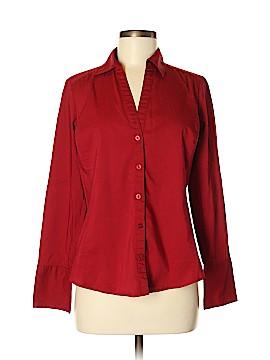 Ann Taylor Long Sleeve Button-Down Shirt Size 8