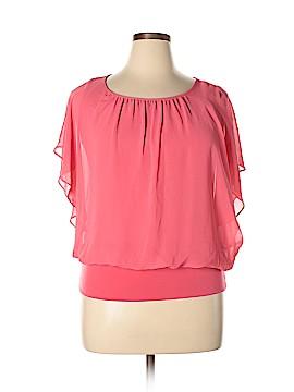 JM Collection Short Sleeve Blouse Size 2X (Plus)