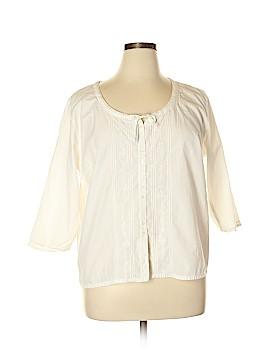 Crossroads 3/4 Sleeve Button-Down Shirt Size 1X (Plus)