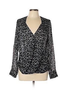 10 Crosby Derek Lam Long Sleeve Silk Top Size 6