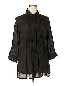 Alfani 3/4 Sleeve Button-Down Shirt Size XL