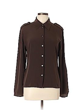 Céline Long Sleeve Silk Top Size 44 (FR)