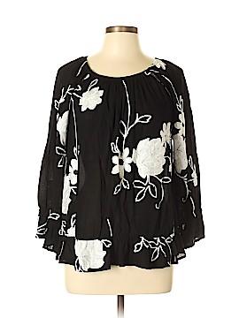 INC International Concepts Long Sleeve Blouse Size L