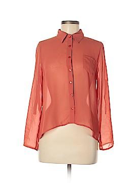 Mine 3/4 Sleeve Button-Down Shirt Size M