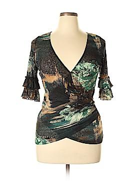Karen Kane Short Sleeve Blouse Size L