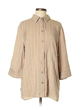 Croft & Barrow 3/4 Sleeve Button-Down Shirt Size XL