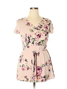 Pink Blush Short Sleeve Top Size L
