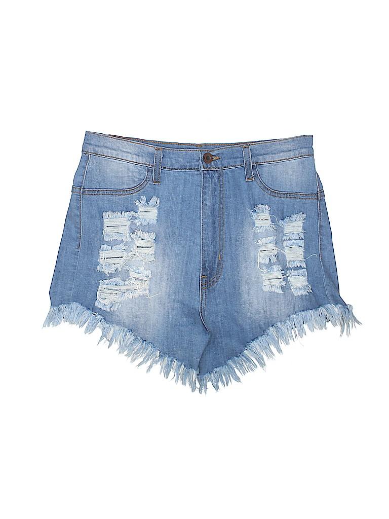 d2ceb66a94 Aphrodite Solid Blue Denim Shorts Size XL - 55% off | thredUP